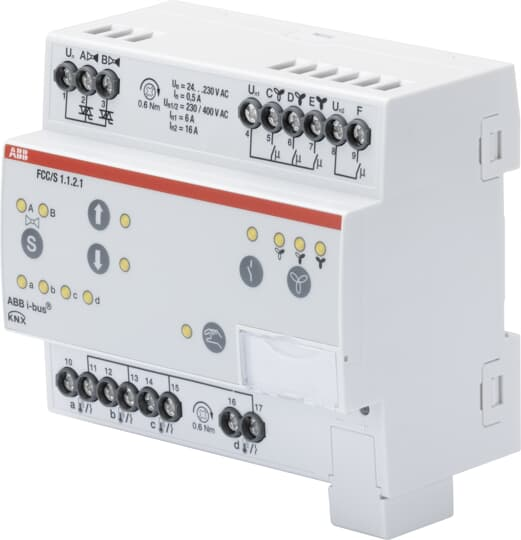 Fan Coil Controller, 2 x PWM, Manual Operation, 3-stage, MDRC