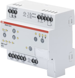 FCC/S1.5.2.1 Fan Coil Controller, 2 x PWM, 0-10 V, Manual Operation, MDRC