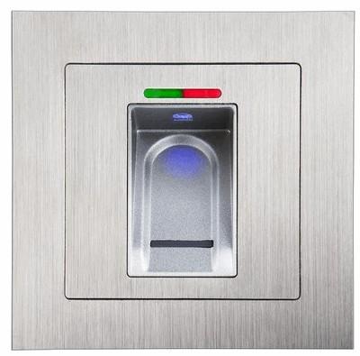 Fingerprint reader inwall mounting version