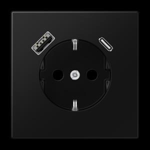 SCHUKO-Steckdose mit USB Typ AC