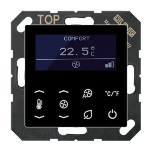 KNX room temperature controller. Display. Temperature sensor. Bus coupler