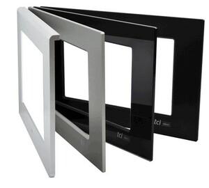 Aluminium front, anodized